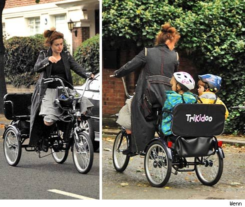 Helena-bonham cycling