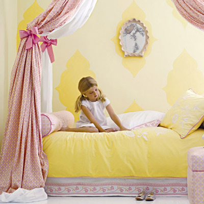 Bedroom on Layla Grayce Pink And Yellow Bedroom