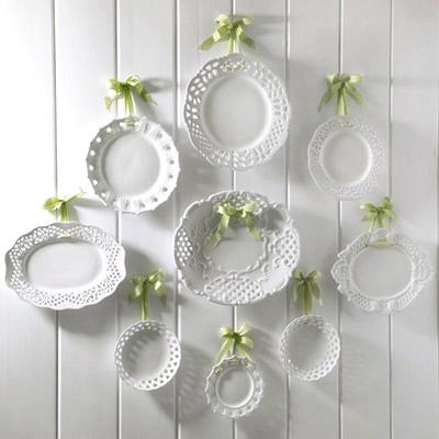 Layla grayce white plates