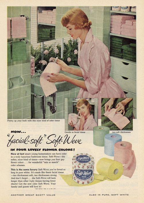 Pink and green toiletpapper